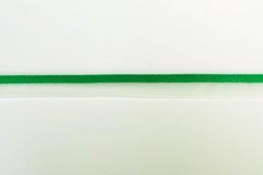 Groene paspel met transparante band