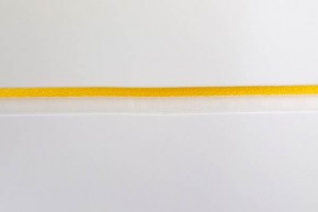 Gele paspel met transparante band