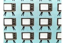 Old fashion TV Aqua