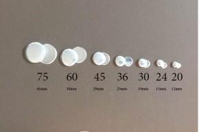 Stofknoop maat 30 (19mm) vlakke achterkant