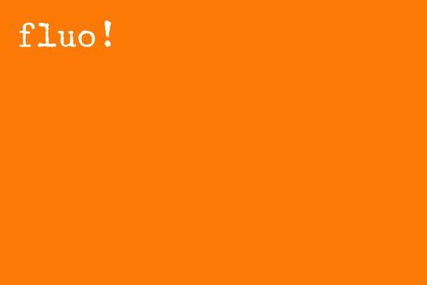 Fluo Oranje flockfolie